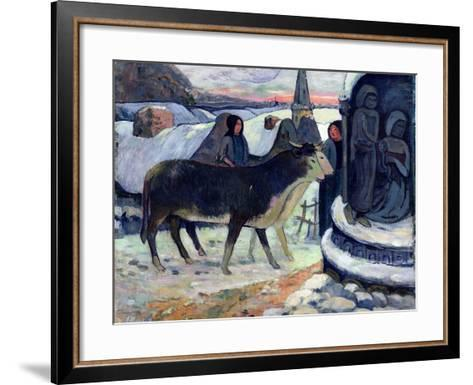 Christmas Night, C.1902-3-Paul Gauguin-Framed Art Print