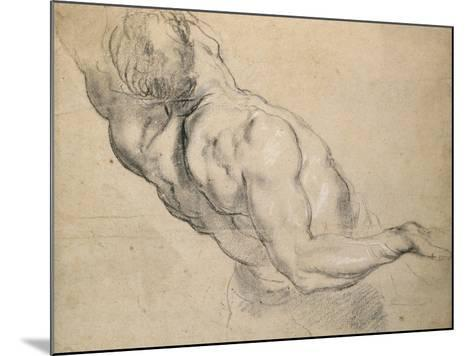 Study of a Nude Male Torso-Peter Paul Rubens-Mounted Giclee Print