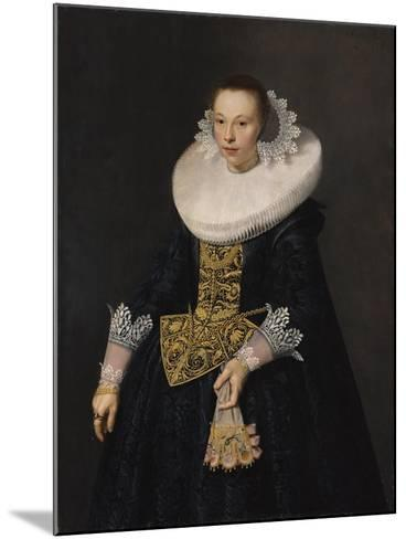 Portrait of a Young Woman, 1632-Nicolaes Eliasz-Mounted Giclee Print