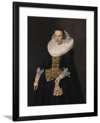 Portrait of a Young Woman, 1632-Nicolaes Eliasz-Framed Art Print