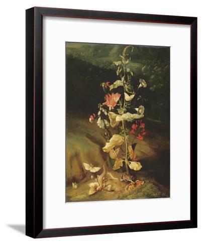 Still Life with Flowers-Otto Marseus Van Schrieck-Framed Art Print