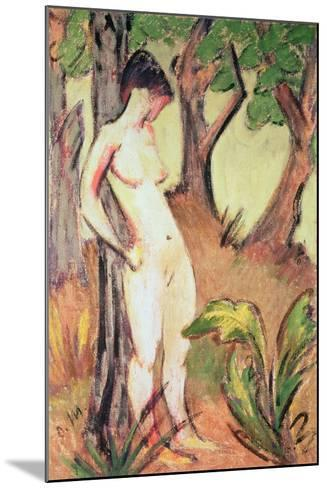 Nude Standing Against a Tree-Otto Muller-Mounted Giclee Print
