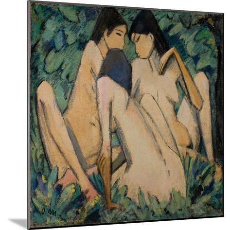 Three Girls in a Wood, C.1920-Otto Muller-Mounted Giclee Print