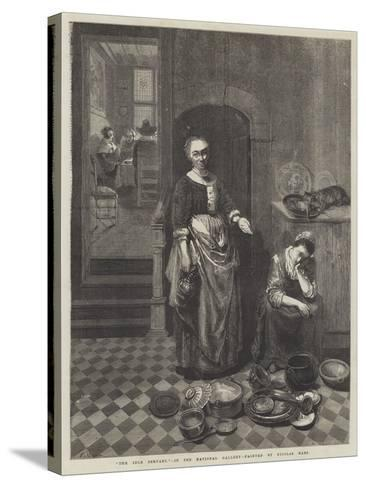 The Idle Servant-Nicolaes Maes-Stretched Canvas Print