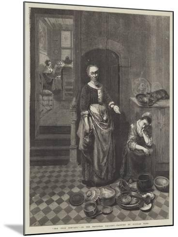 The Idle Servant-Nicolaes Maes-Mounted Giclee Print