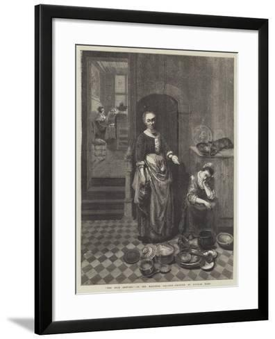 The Idle Servant-Nicolaes Maes-Framed Art Print