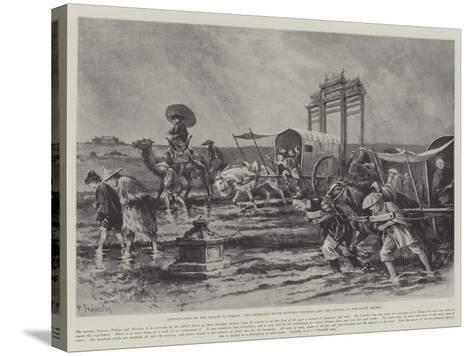 Difficulties of the March to Peking-Paul Frenzeny-Stretched Canvas Print