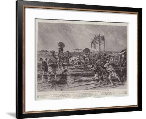 Difficulties of the March to Peking-Paul Frenzeny-Framed Art Print