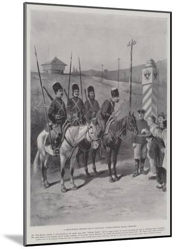 A Chino-Russian Frontier Post in Manchuria, Coolies Entering Russian Territory-Paul Frenzeny-Mounted Giclee Print