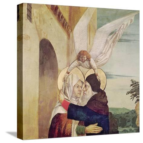 The Meeting of St. Anne and St. Joachim at the Golden Gate, C.1499-Nicolas d' Ypres-Stretched Canvas Print