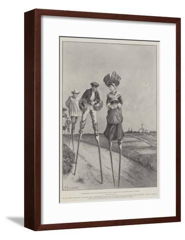 A Picturesque Scene in South-Western France, Peasants of the Landes Going to Market-Paul Frenzeny-Framed Art Print