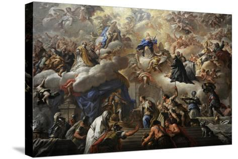 Triumph of the Immaculate, 1710-1715-Paolo Di Matteis-Stretched Canvas Print