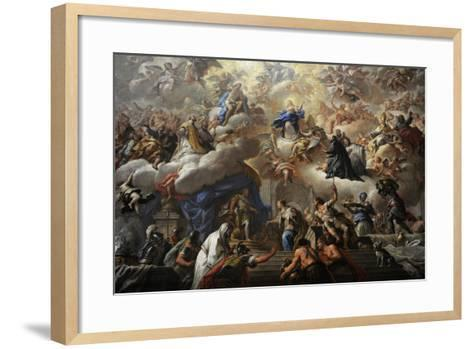 Triumph of the Immaculate, 1710-1715-Paolo Di Matteis-Framed Art Print