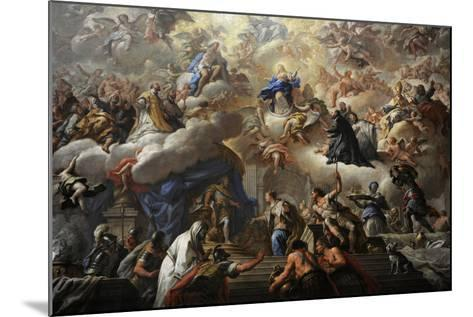 Triumph of the Immaculate, 1710-1715-Paolo Di Matteis-Mounted Giclee Print