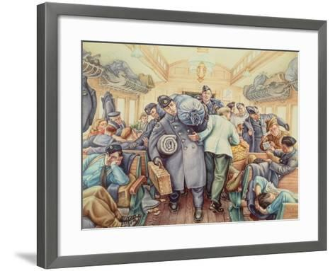 Posted to Newfie, 1942-Paul Goranson-Framed Art Print