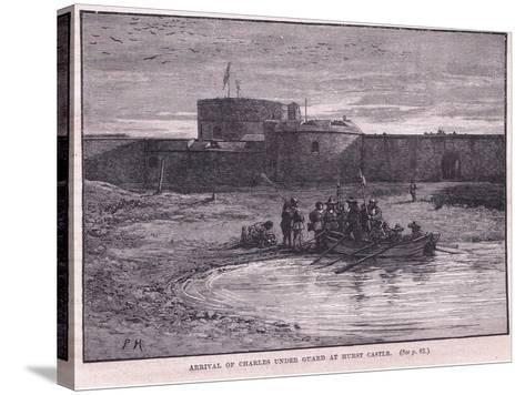 Arrival of Charles I under Guard at Hurst Castle Ad 1648-Paul Hardy-Stretched Canvas Print