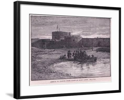Arrival of Charles I under Guard at Hurst Castle Ad 1648-Paul Hardy-Framed Art Print