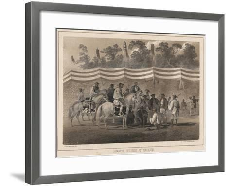 Japanese Soldiers at Yokuhama, Litho by Sarony and Co., 1855-Peter Bernhard Wilhelm Heine-Framed Art Print