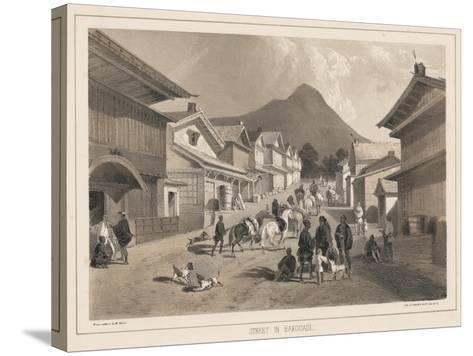 Street in Hakodadi, Litho by Sarony and Co., 1855-Peter Bernhard Wilhelm Heine-Stretched Canvas Print