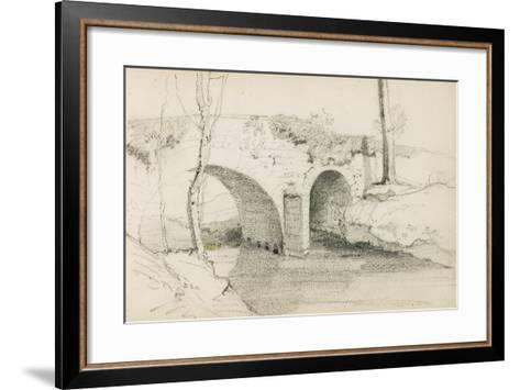 Drawing from an Album Titled 'The Basque Country', 1862-63-Odilon Redon-Framed Art Print
