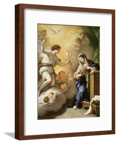The Annunciation, 1712-Paolo Di Matteis-Framed Art Print