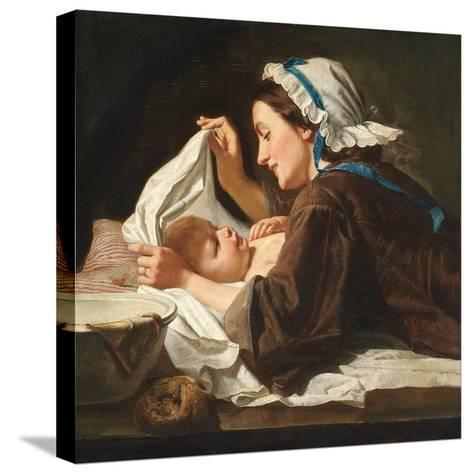Mother and Child, 1833-Peter Fendi-Stretched Canvas Print