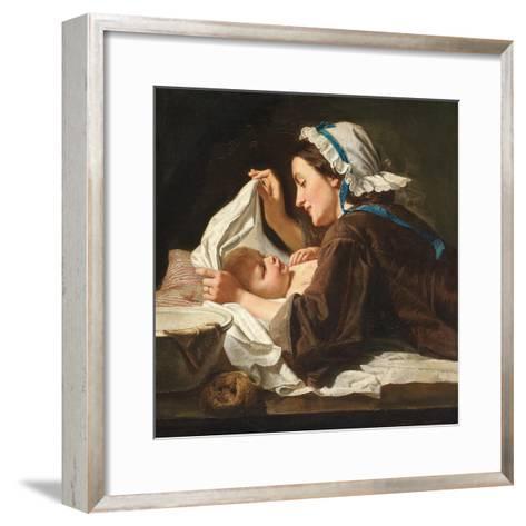 Mother and Child, 1833-Peter Fendi-Framed Art Print