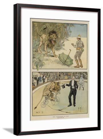 The Superiority of Man-Phil May-Framed Art Print