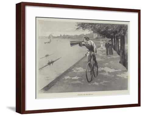 Training for the Regatta-Paul Frenzeny-Framed Art Print