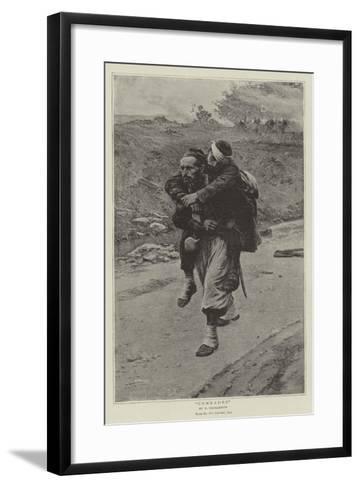 Comrades-Paul Louis Narcisse Grolleron-Framed Art Print