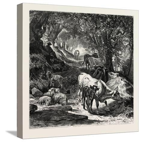 The Shady Lane-Peter Moran-Stretched Canvas Print