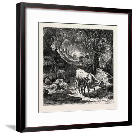The Shady Lane-Peter Moran-Framed Art Print