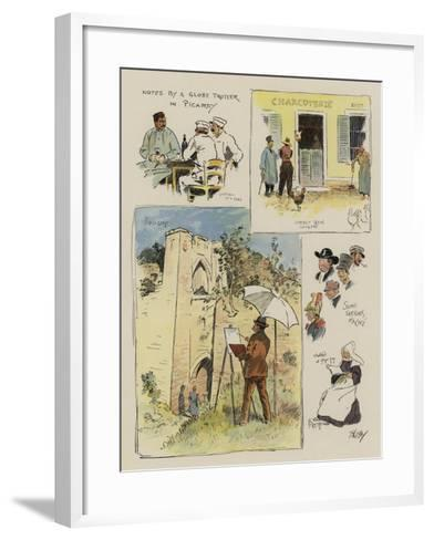 Notes by a Globe Trotter in Picardy-Phil May-Framed Art Print