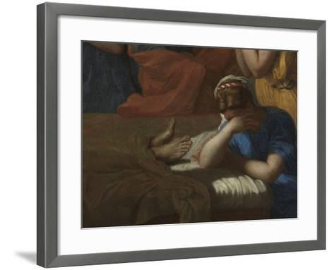 Extreme Unction, from the 'Seven Sacraments', 1638-40-Nicolas Poussin-Framed Art Print