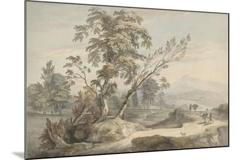 Italianate Landscape with Travellers No.2, C.1760 (W/C, Pen and Grey Ink over Graphite)-Paul Sandby-Mounted Giclee Print