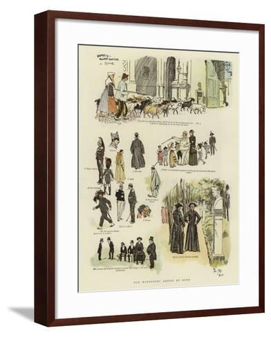 Our Wandering Artist at Rome-Phil May-Framed Art Print