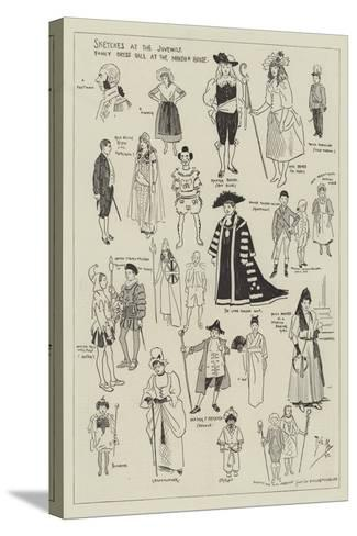 Sketches at the Juvenile Fancy Dress Ball at the Mansion House-Phil May-Stretched Canvas Print