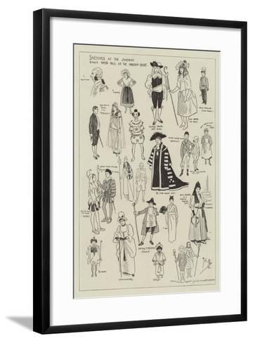 Sketches at the Juvenile Fancy Dress Ball at the Mansion House-Phil May-Framed Art Print