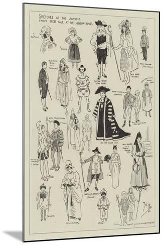 Sketches at the Juvenile Fancy Dress Ball at the Mansion House-Phil May-Mounted Giclee Print