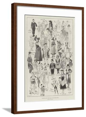 Children's Fancy Dress Ball at the Mansion House-Phil May-Framed Art Print