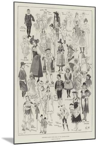 Children's Fancy Dress Ball at the Mansion House-Phil May-Mounted Giclee Print