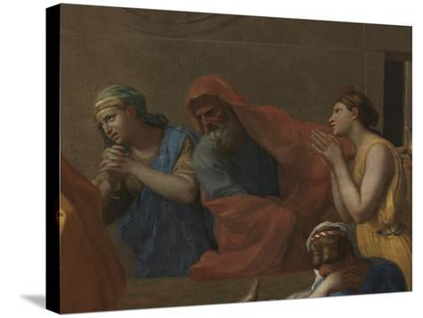 Extreme Unction, from the 'Seven Sacraments', 1638-40-Nicolas Poussin-Stretched Canvas Print