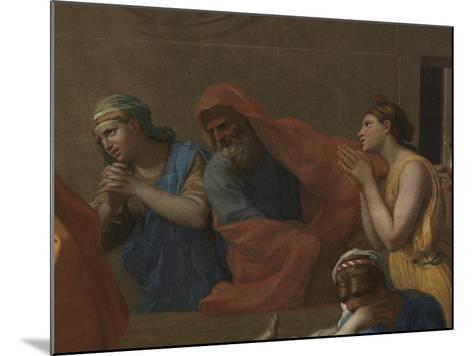 Extreme Unction, from the 'Seven Sacraments', 1638-40-Nicolas Poussin-Mounted Giclee Print