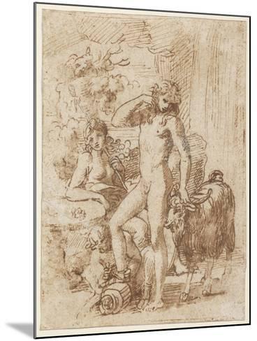 Bacchus and Erigone-Nicolas Poussin-Mounted Giclee Print