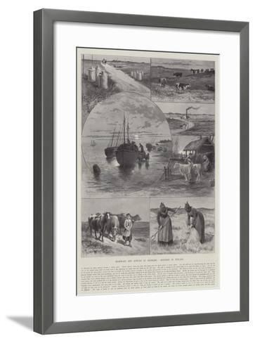 Highways and Byways in Denmark, Sketches in Jutland-Paul Frenzeny-Framed Art Print