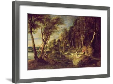 Landscape with a Shepherd-Peter Paul Rubens-Framed Art Print