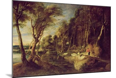 Landscape with a Shepherd-Peter Paul Rubens-Mounted Giclee Print