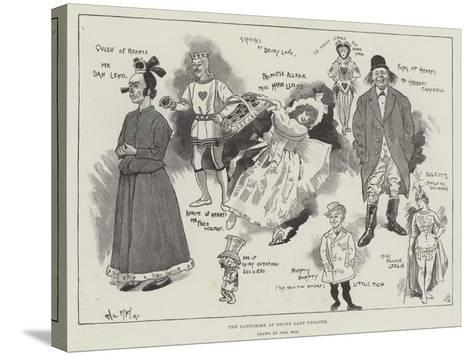The Pantomime at Drury Lane Theatre-Phil May-Stretched Canvas Print