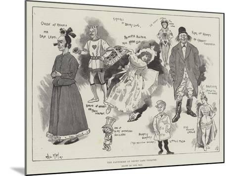 The Pantomime at Drury Lane Theatre-Phil May-Mounted Giclee Print