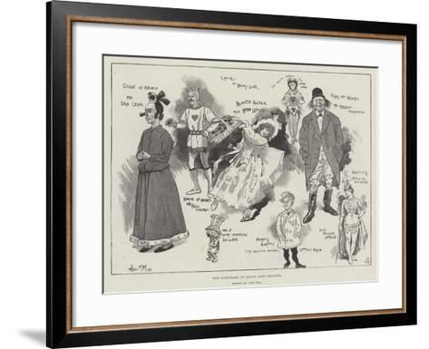 The Pantomime at Drury Lane Theatre-Phil May-Framed Art Print